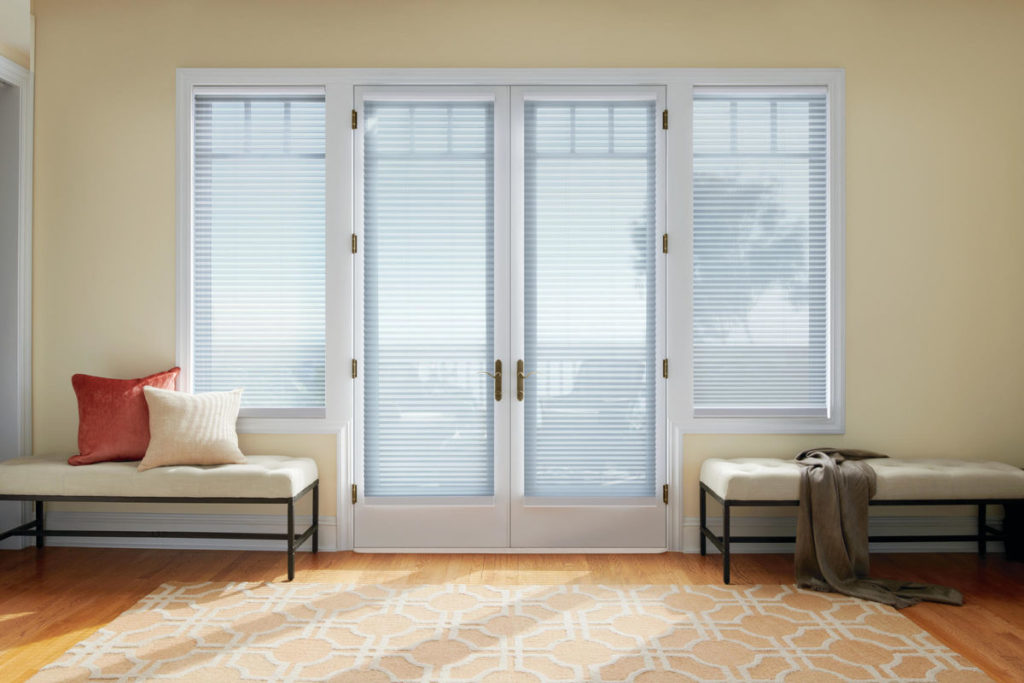Honeycomb shades, Duette® , Whisper color